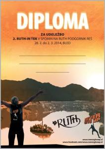 diploma za tekače